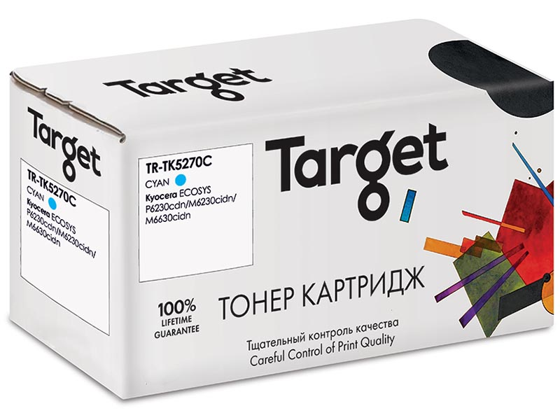 Картридж Target TR-TK5270C Cyan для Kyocera ECOSYS P6230cdn/M6230cidn/M6630cidn