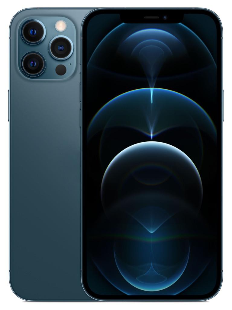 Фото - Сотовый телефон APPLE iPhone 12 Pro Max 256Gb Pacific Blue MGDF3RU/A сотовый телефон apple iphone 12 pro 256gb graphite mgmp3ru a
