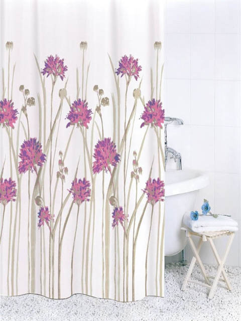 Шторка Bath Plus Flowers Pink 180х180cm ch16007/2