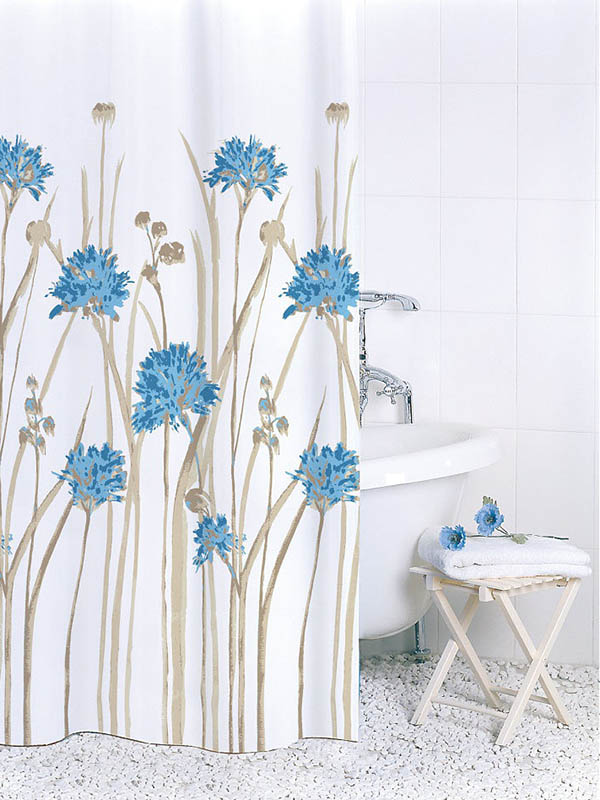 Шторка Bath Plus Flowers Blue 180х180cm ch16007/0