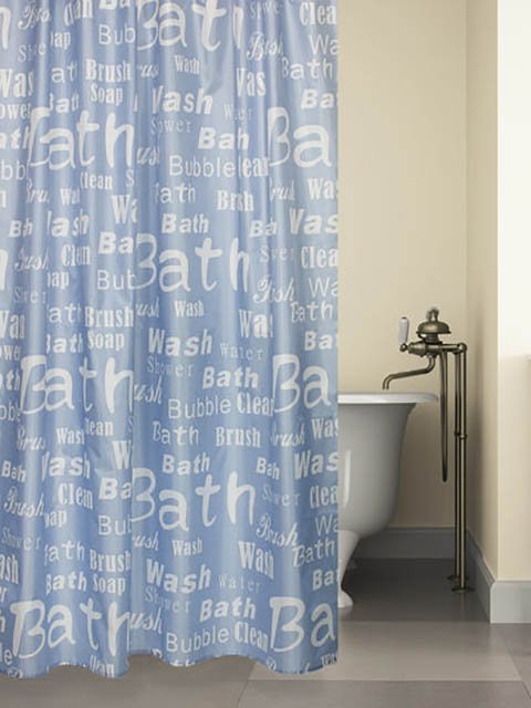 Шторка Bath Plus Blue Font 180х180cm ch15061