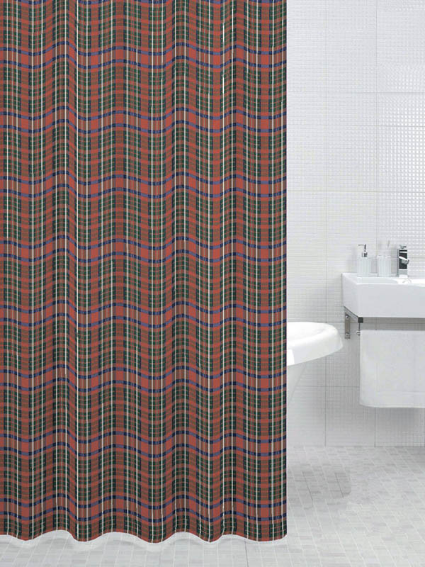 Шторка Bath Plus England Plaid 180x200cm DS3003