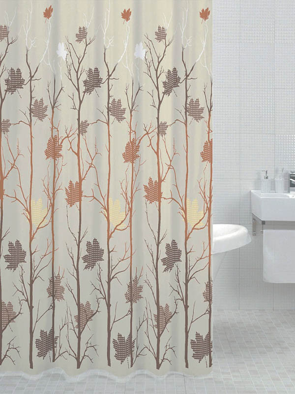 Шторка Bath Plus Autumn Leaf 180x200cm DS3002