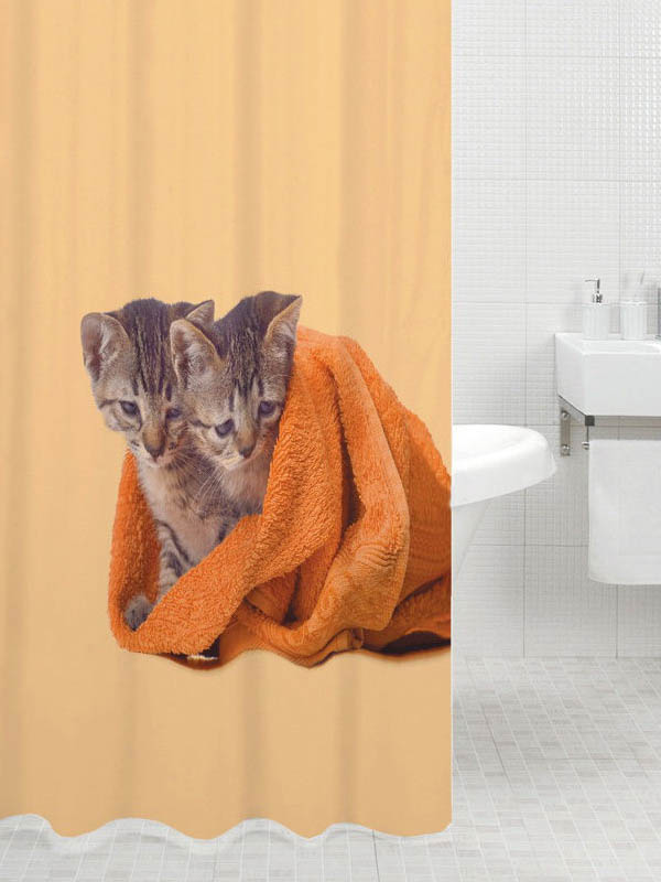 Шторка Bath Plus Cat Twins 180x200cm DSP3008