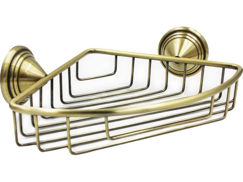 держатель для полотенец bath plus bronx gold bxg 65711 Полка угловая Bath Plus Bronx Gold BXG-65709A