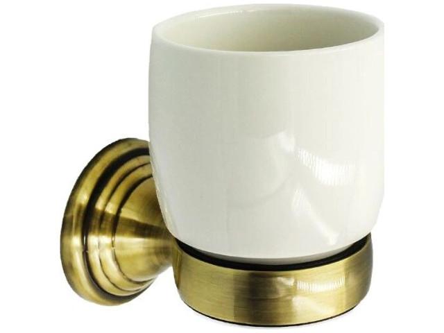 держатель для полотенец bath plus bronx gold bxg 65711 Держатель со стаканом Bath Plus Bronx Gold BXG-65706