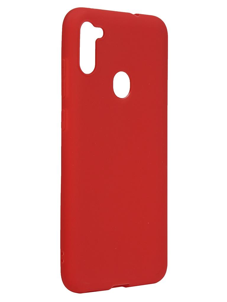 Чехол Neypo для Samsung Galaxy A11/M11 2020 Silicone Soft Matte Red NST17822