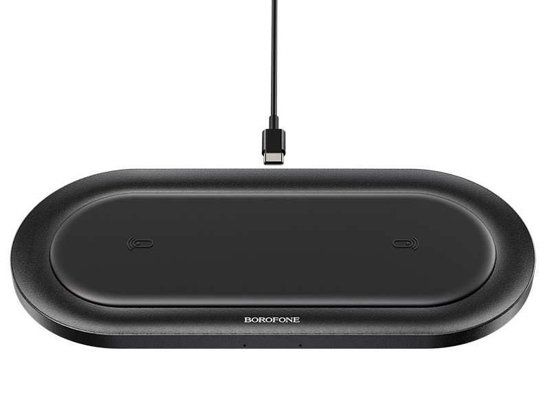 Зарядное устройство Borofone BQ7 Prominent Dual 10W Wireless Fast Charger Black 0L-MG-WF319