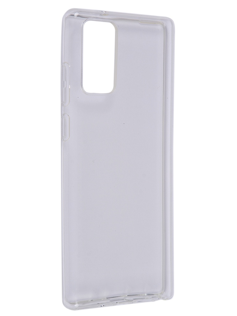 Чехол Brosco для Samsung Galaxy Note 20 Silicone Transparent SS-N20-TPU-TRANSPARENT