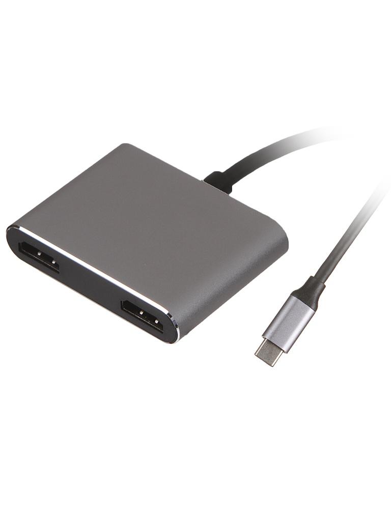 Хаб USB Palmexx 2в1 USB-C - 2xHDMI PX/HUB-003