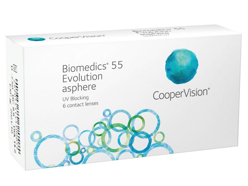 Контактные линзы CooperVision Biomedics 55 Evolution UV (6 линз / 8.6 -5)