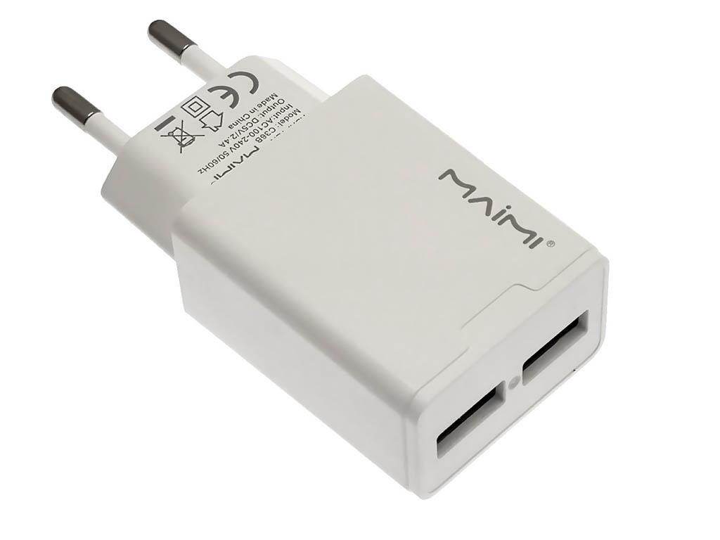 Зарядное устройство Maimi C36B 2xUSB 2400mAh 5V White
