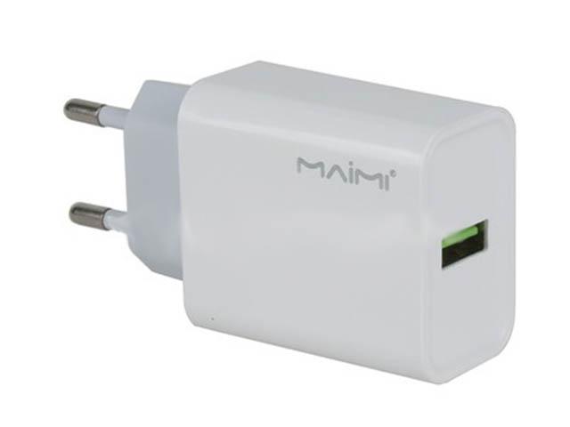 Зарядное устройство Maimi C52 Quick Charge 3.0 1xUSB 22.5W White