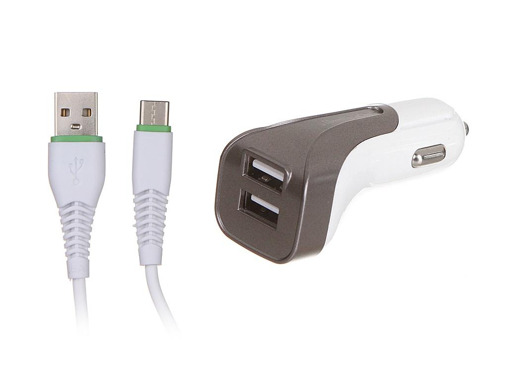 Зарядное устройство Maimi T20 2xUSB 2400mAh + Cable USB Type-C White