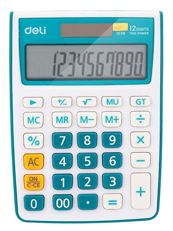 Калькулятор Deli E1238/Blue