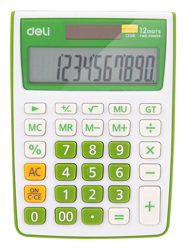 Калькулятор Deli E1238/GRN