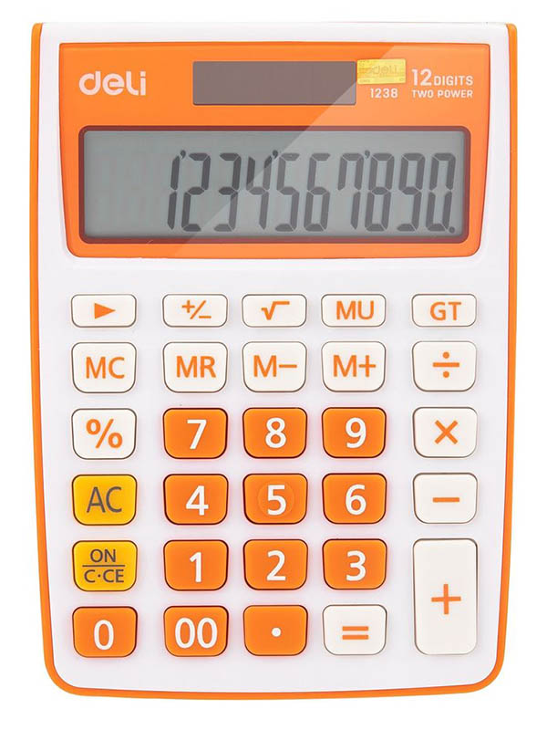 Калькулятор Deli E1238/OR