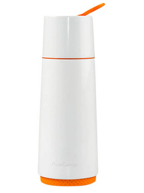 Фото - Термос Ace Camp Vacuum Bottle 370ml White 1504 классический термос ace camp ss vacuum bottle 0 37 л белый