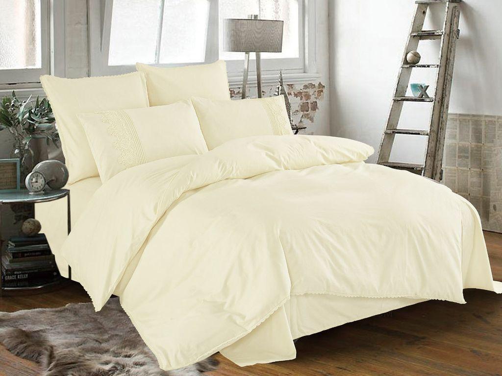 Постельное белье Cleo Cotton Lace 41/007-LE Комплект Дуэт Сатин
