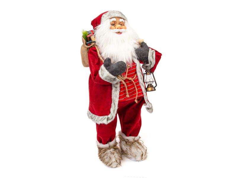 Игрушка Winter Glade Дед Мороз с фонарем 80cm Red M40