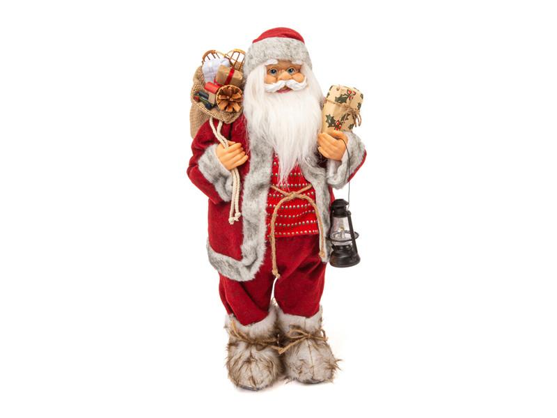 Игрушка Winter Glade Дед Мороз с фонарем 60cm Red M39