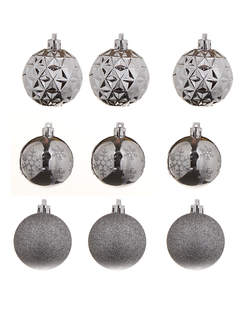 Набор шаров Christmas Goods 6cm 12шт Silver 81195G257