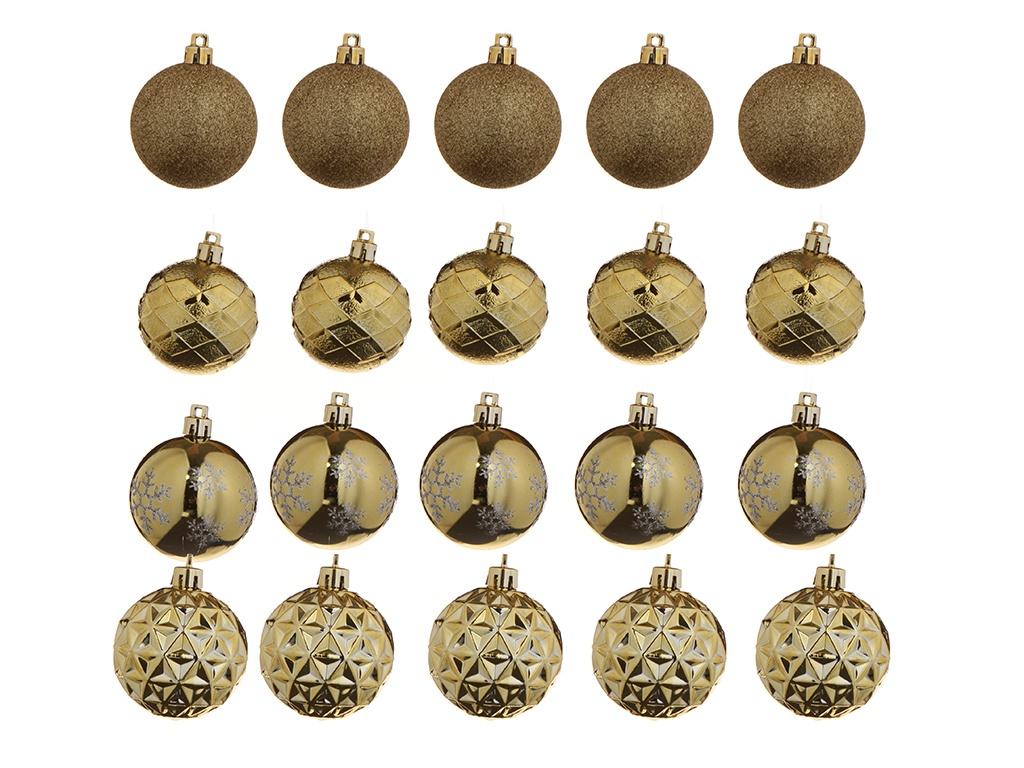 Украшение Christmas Goods Набор шаров 6cm 12шт Gold 81195G001
