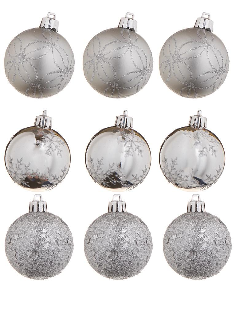 Украшение Christmas Goods Набор шаров 6cm 9шт Silver 81191G002