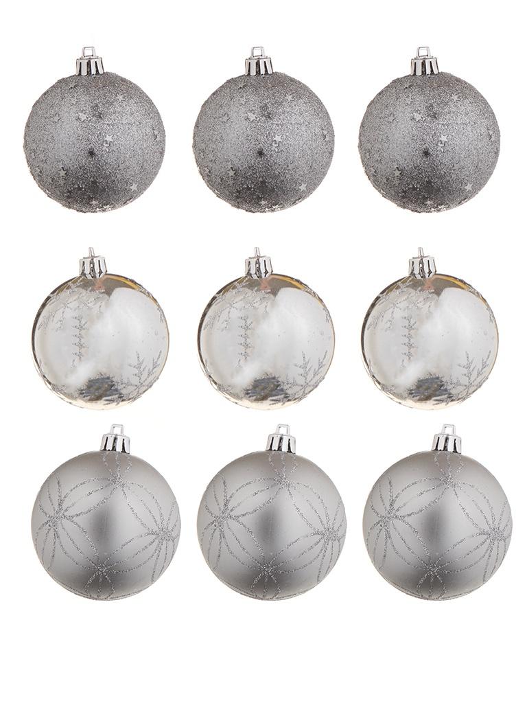 Украшение Christmas Goods Набор шаров 8cm 6шт Silver 81190G002