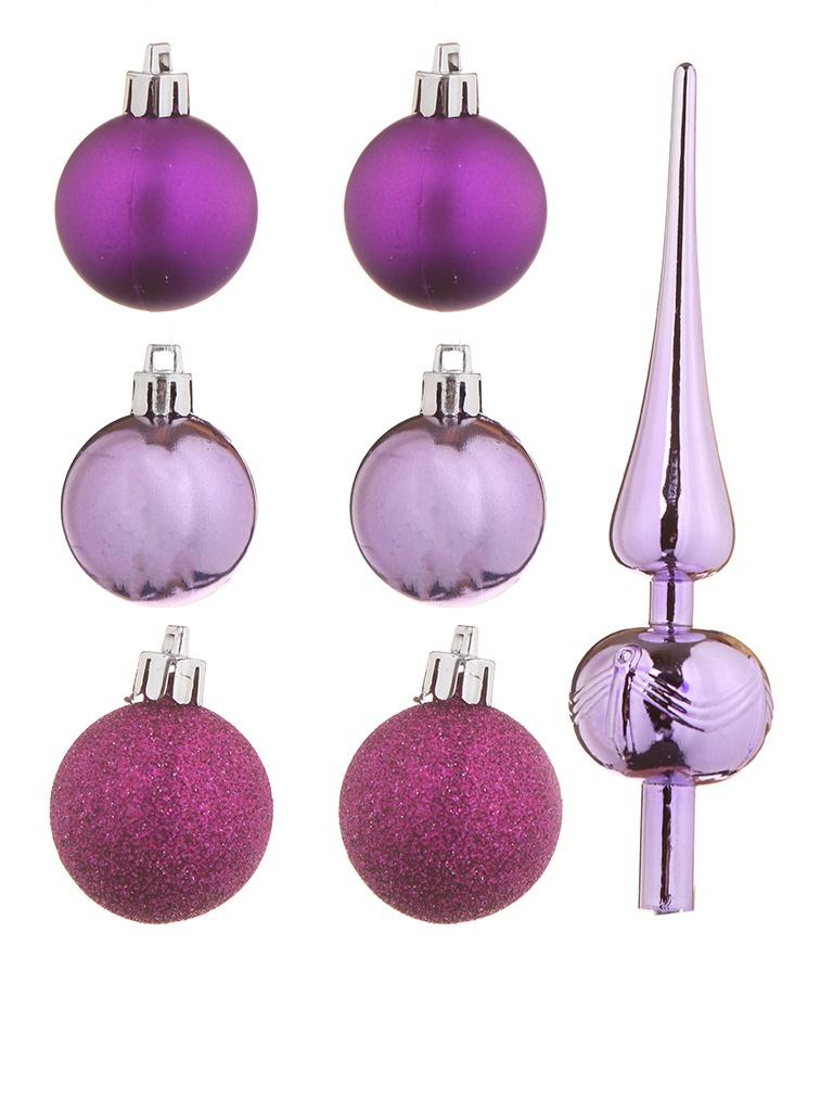 Набор шаров с верхушкой Christmas Goods 47шт Purple Mix 81157G219