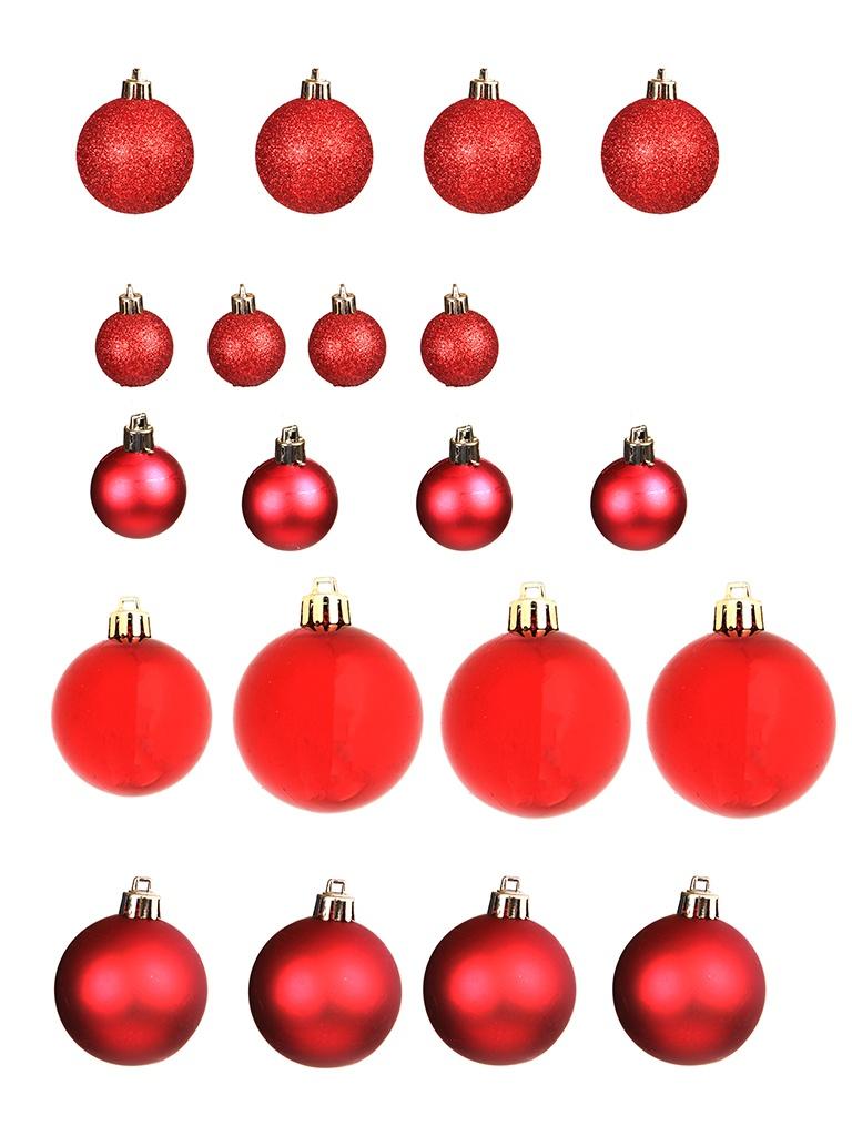 Набор шаров с верхушкой Christmas Goods 47шт Red Mix 81157G003