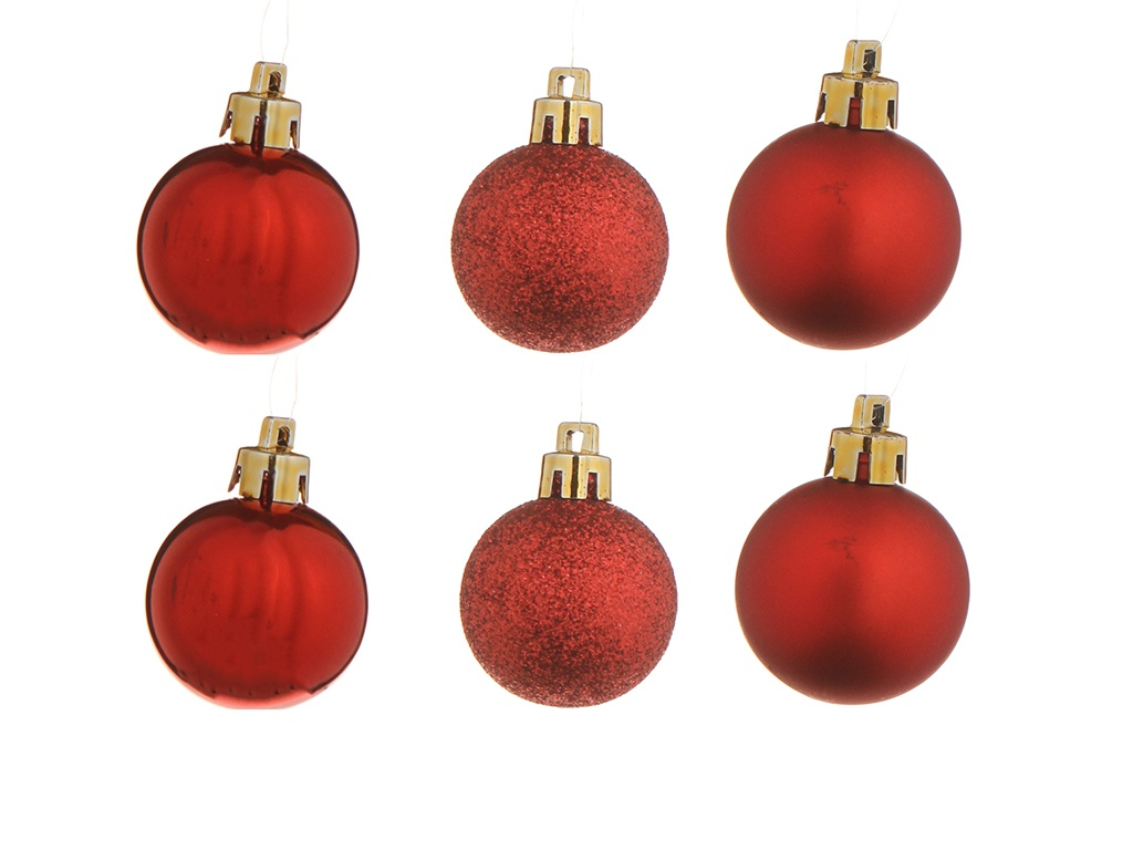 Украшение Christmas Goods Набор шаров 4-6cm 50шт Red Mix 81087G003