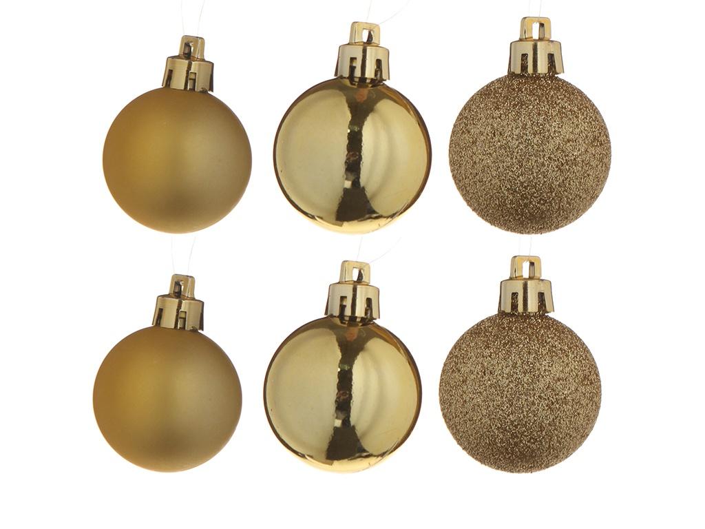 Набор шаров Christmas Goods 4-6cm 50шт Gold Mix 81087G001