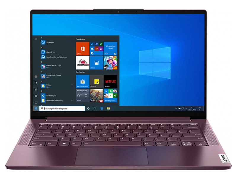 Ноутбук Lenovo Yoga Slim 7 14ARE05 82A20055RU (AMD Ryzen 5 4600U 2.1 GHz/16384Mb/512Gb SSD/AMD Radeon Graphics/Wi-Fi/Bluetooth/Cam/14.0/1920x1080/Windows 10 Home 64-bit)