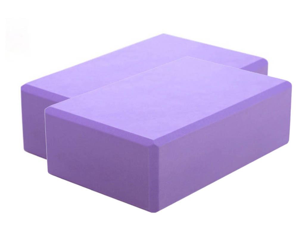 Блок для йоги ZDK 10cm 2шт Purple