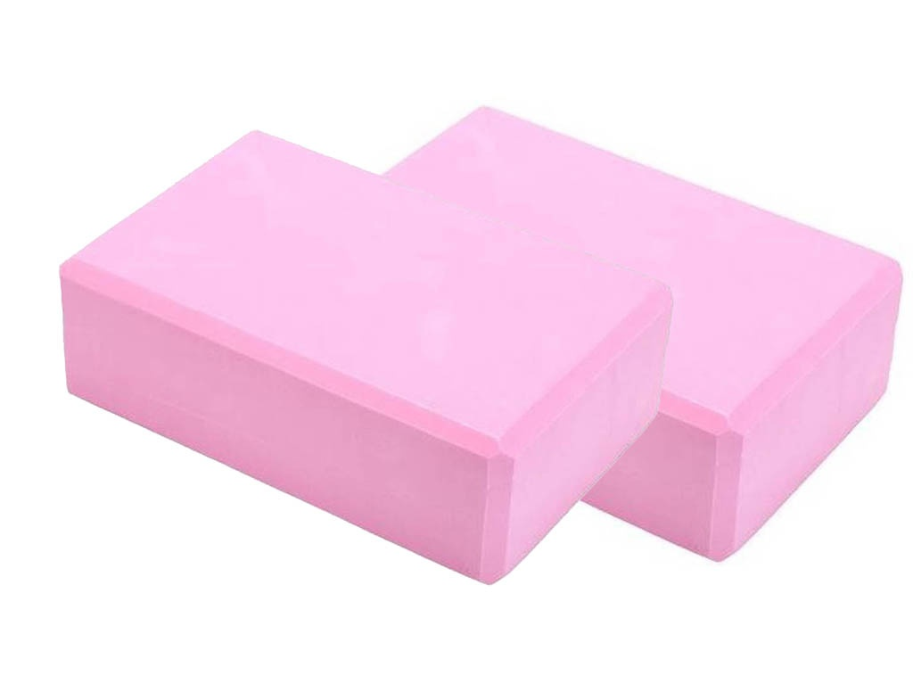 Блок для йоги ZDK 10cm 2шт Pink