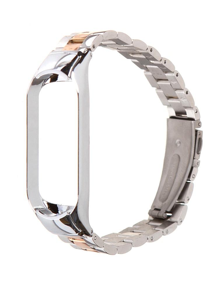 Aксессуар Ремешок Bruno для Xiaomi Mi Band 5 Metallico Silver-Bronze 5212