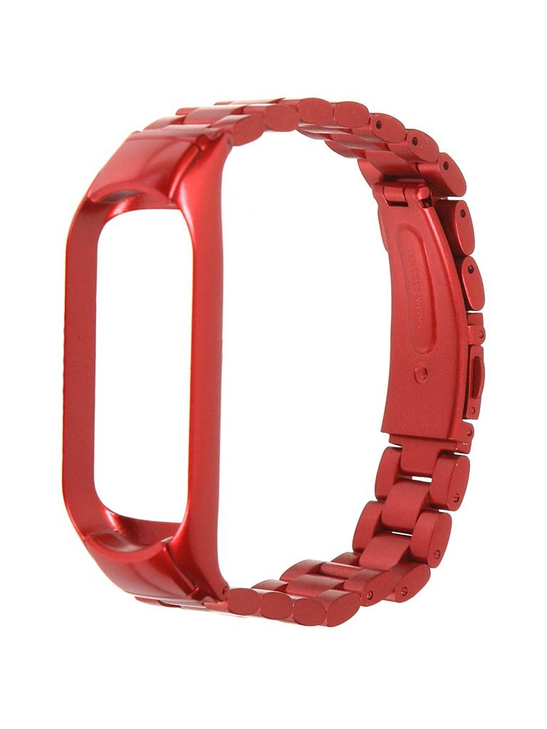 Aксессуар Ремешок Bruno для Xiaomi Mi Band 5 Metallico Red 5211