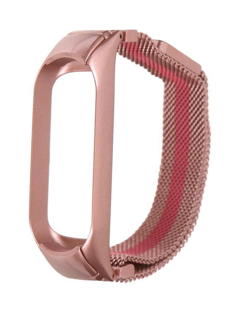 Aксессуар Ремешок Bruno для Xiaomi Mi Band 5 Milano Pink Stripe 5022