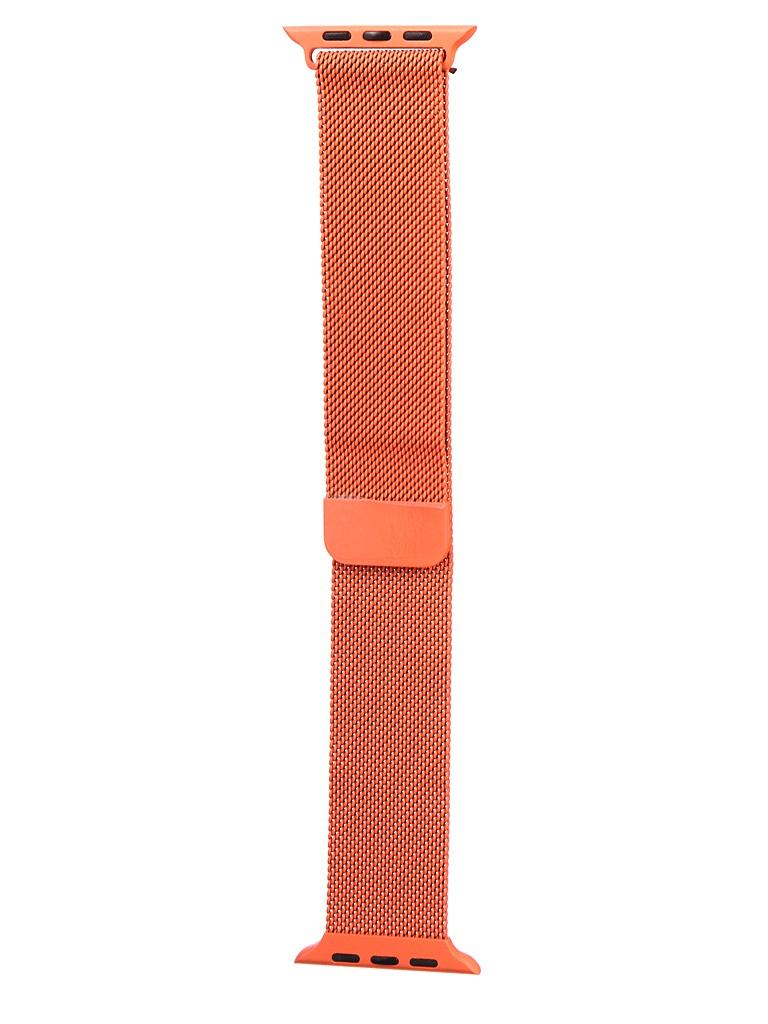 Аксессуар Ремешок Bruno для APPLE Watch 42/44mm Milano Orange b20534 аксессуар ремешок bruno для apple watch 42 44mm milano dark grey 1022