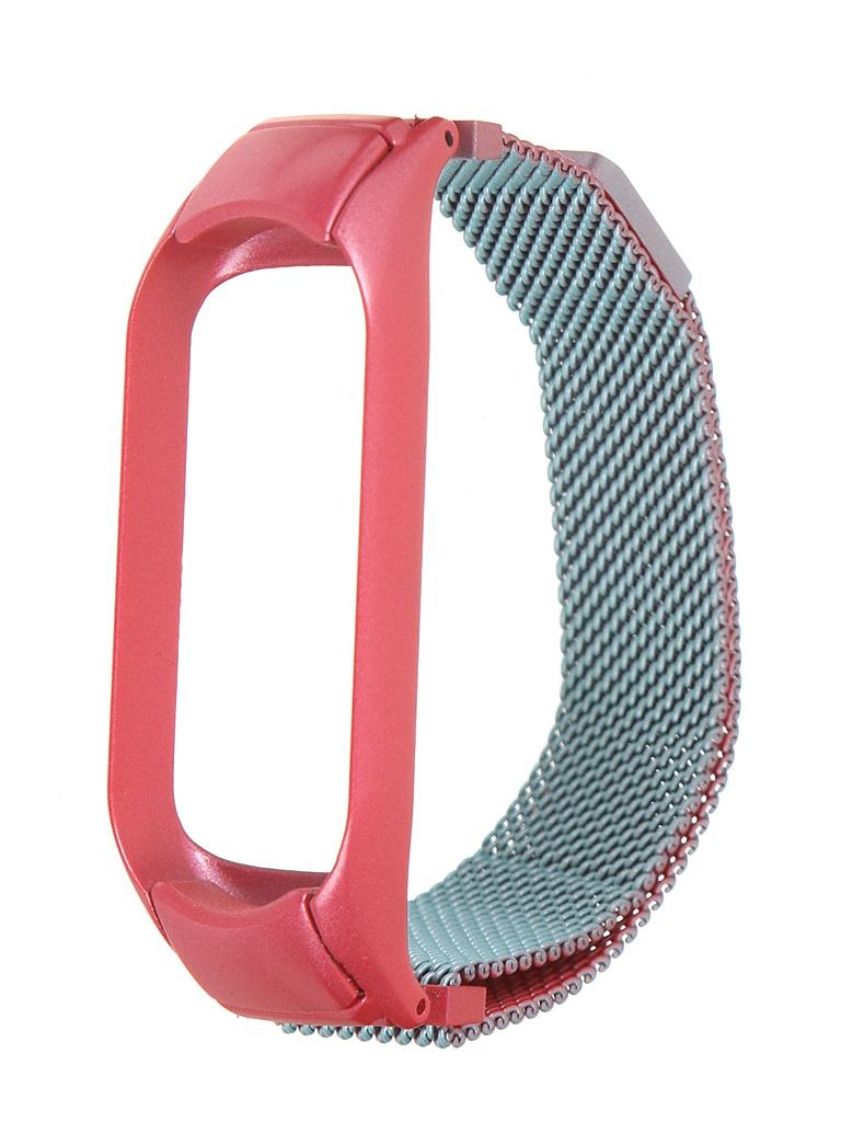 Aксессуар Ремешок Bruno для Xiaomi Mi Band 5 Milano Pink-Turquoise 5038