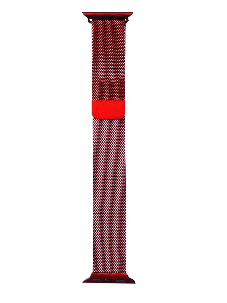 Аксессуар Ремешок Bruno для APPLE Watch 38/40mm Milano Dark Red b96845 аксессуар ремешок bruno для apple watch 42 44mm milano dark grey 1022