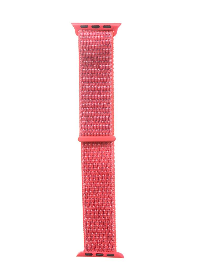 Аксессуар Ремешок Bruno для APPLE Watch 38/40mm Nylon Light Red b21133