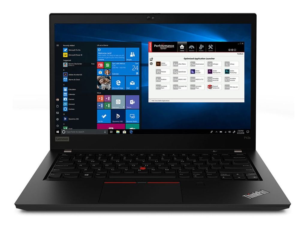 Ноутбук Lenovo ThinkPad P43s 20RH0029RT (Intel Core i7-8565U 1.8 GHz/8192Mb/256Gb SSD/nVidia Quadro P520 2048Mb/Wi-Fi/Bluetooth/Cam/14.0/1920x1080/Windows 10 Pro 64-bit)