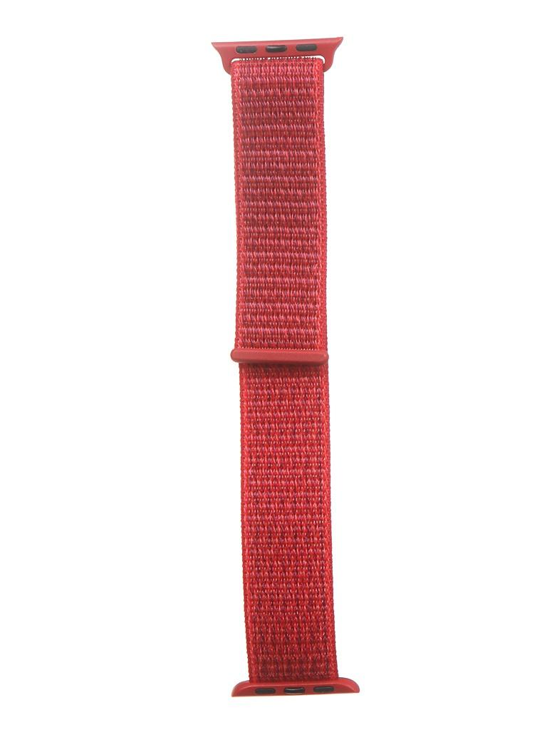 Аксессуар Ремешок Bruno для APPLE Watch 38/40mm Nylon Red 1017