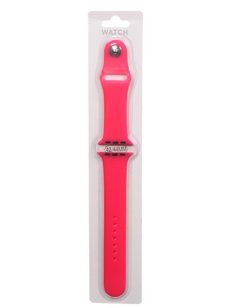 Аксессуар Ремешок Bruno для APPLE Watch 42/44mm Silicone M/L Bright Pink b19681