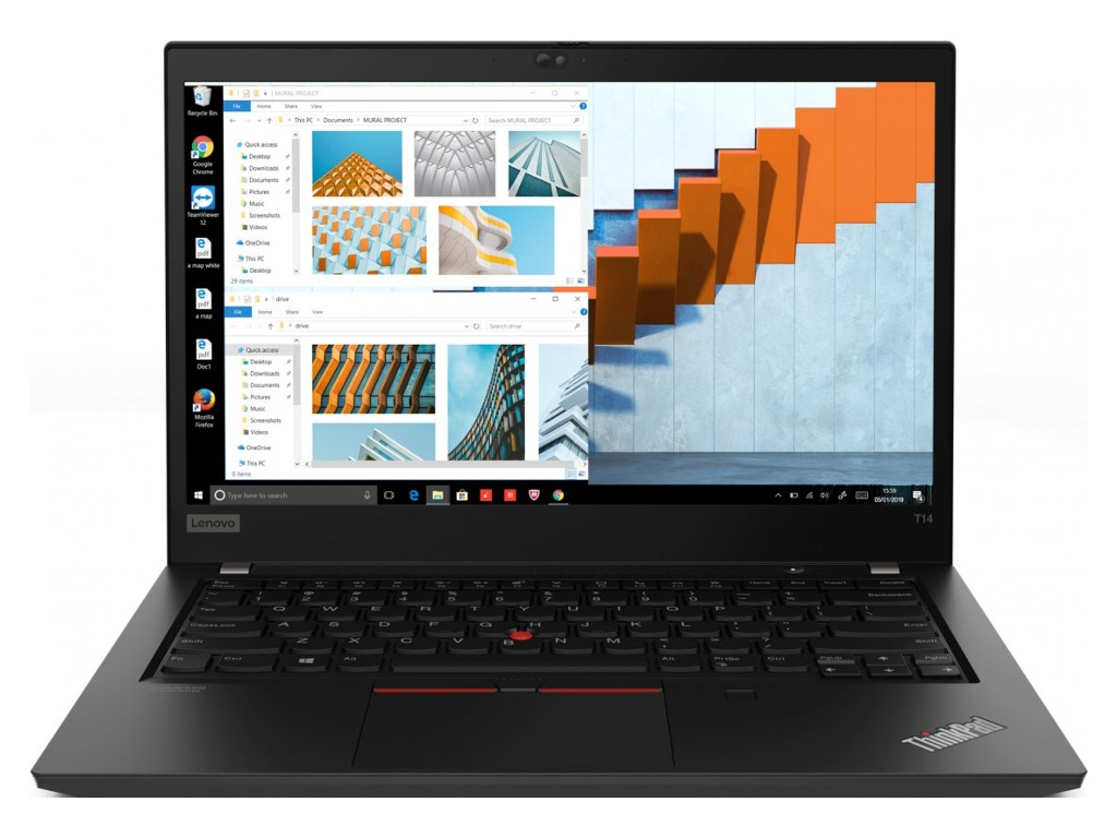 Ноутбук Lenovo ThinkPad T14 G1 T 20S00008RT (Intel Core i7-10510U 1.8 GHz/16384Mb/256Gb SSD/Intel UHD Graphics/Wi-Fi/Bluetooth/Cam/14.0/1920x1080/Windows 10 Pro 64-bit)