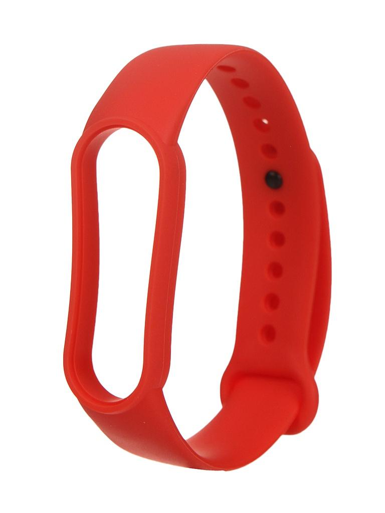 Aксессуар Ремешок Bruno для Xiaomi Mi Band 5 Silicone Red 5320