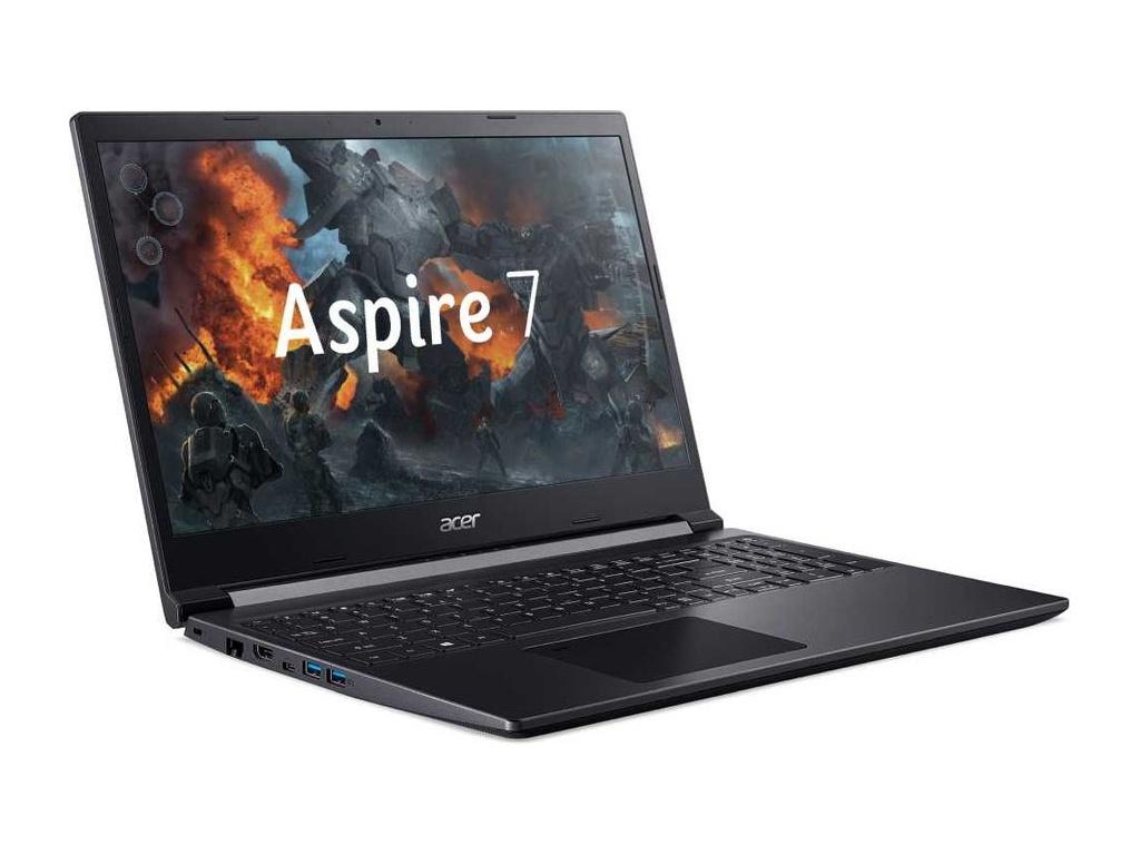 Ноутбук Acer Aspire 7 A715-75G-56ZT NH.Q88ER.002 (Intel Core i5-9300H 2.4GHz/8192Mb/256Gb SSD/nVidia GeForce GTX 1650 Ti 4096Mb/Wi-Fi/15.6/1920x1080/Eshell)