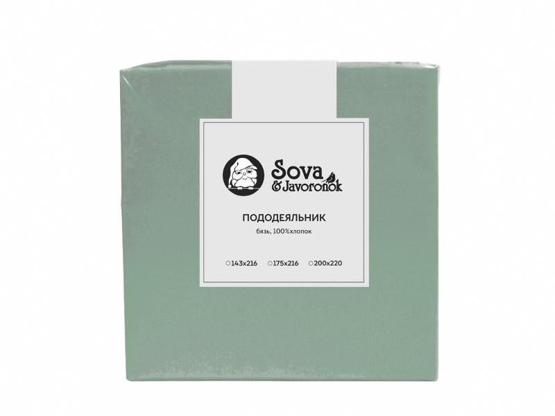 Пододеяльник Sova&Javoronok 143x216cm Бязь Green 18030119386